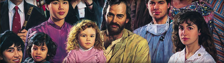 Nathan Green Portrait of Jesus with a bunch of random people